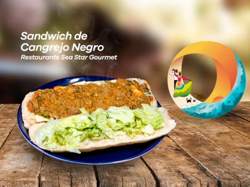 sandwich-cangrejo-negro-restaurante-sea-star-gourmet-old-providence